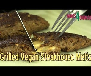Vegan Steakhouse Melts - Vegan Patties Folded and Stuffed With Vegan Cheese