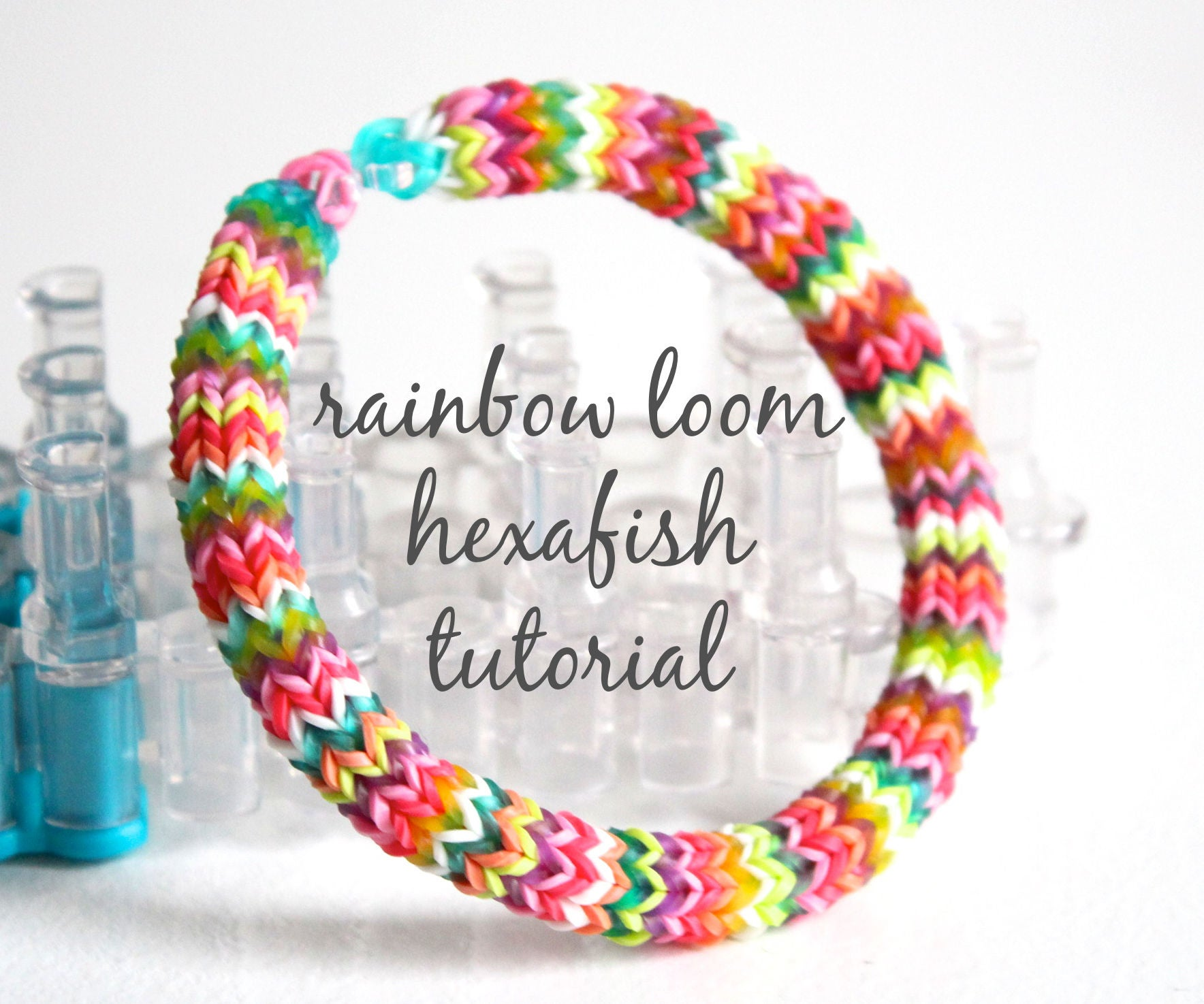 Hexafish Rainbow Loom Bracelet 10 Steps With Pictures Instructables