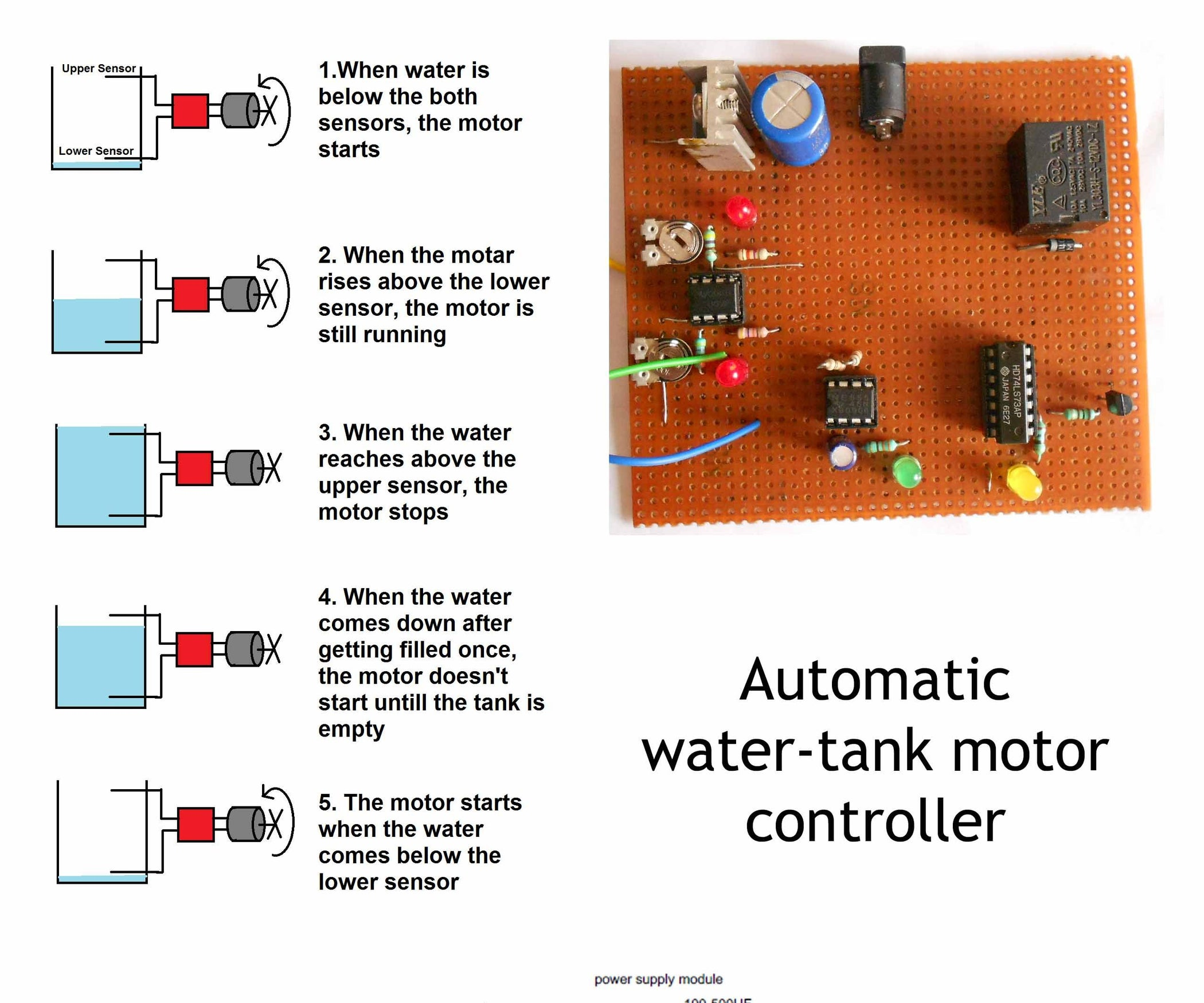 Automatic Water Tank Motor Controller How To Use The Diy Clap Switch Build Circuit