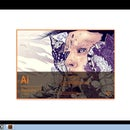 AHS Vinyl Sticker - on Adobe Illustrator