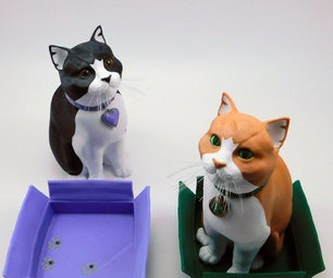 Schrodinky: British Shorthair Cat in a Box – 3D Printable, Multi Part Model Assembly Guide