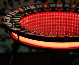 Coffee Table With Infinity Mirror From Casino Roulette