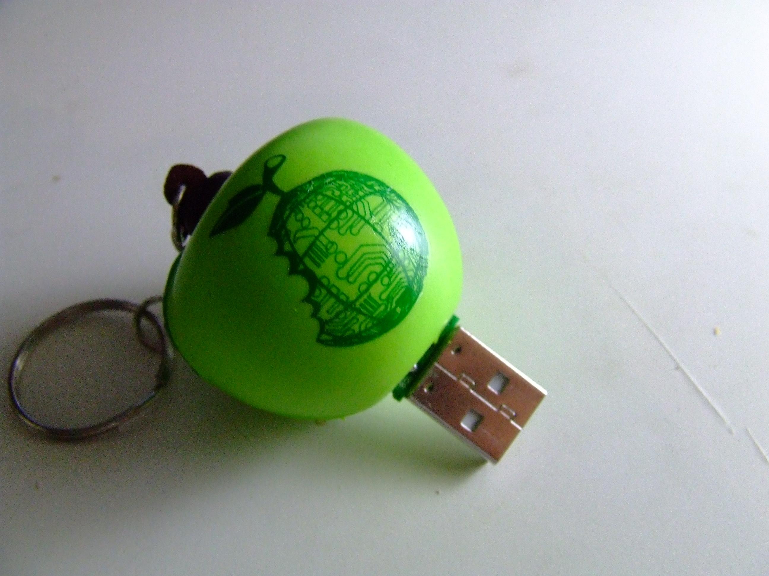 Picture of Foam Apple Keychain Flash Drive...