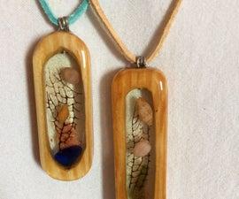 Wood/resin Pendant