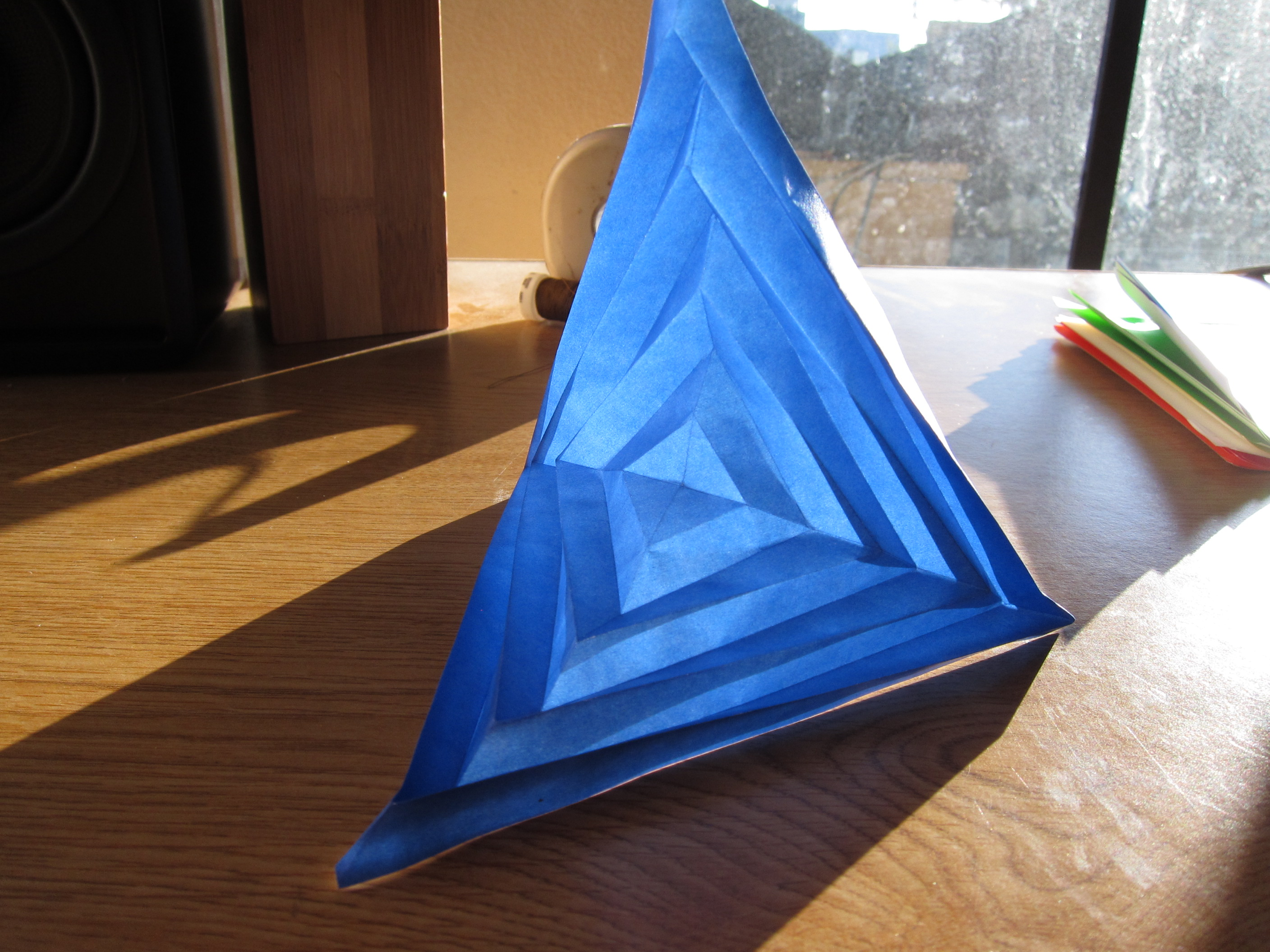 """Picture of Paper """"Cube"""" Made of Hyperbolic Paraboloids - Modular Math Origami"""