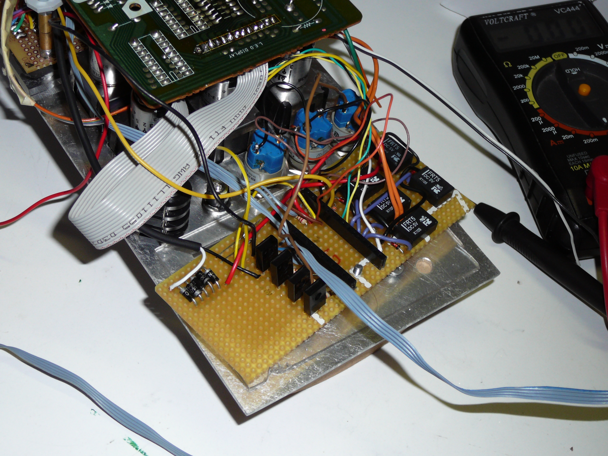 Picture of Arduino Board and Circuitry