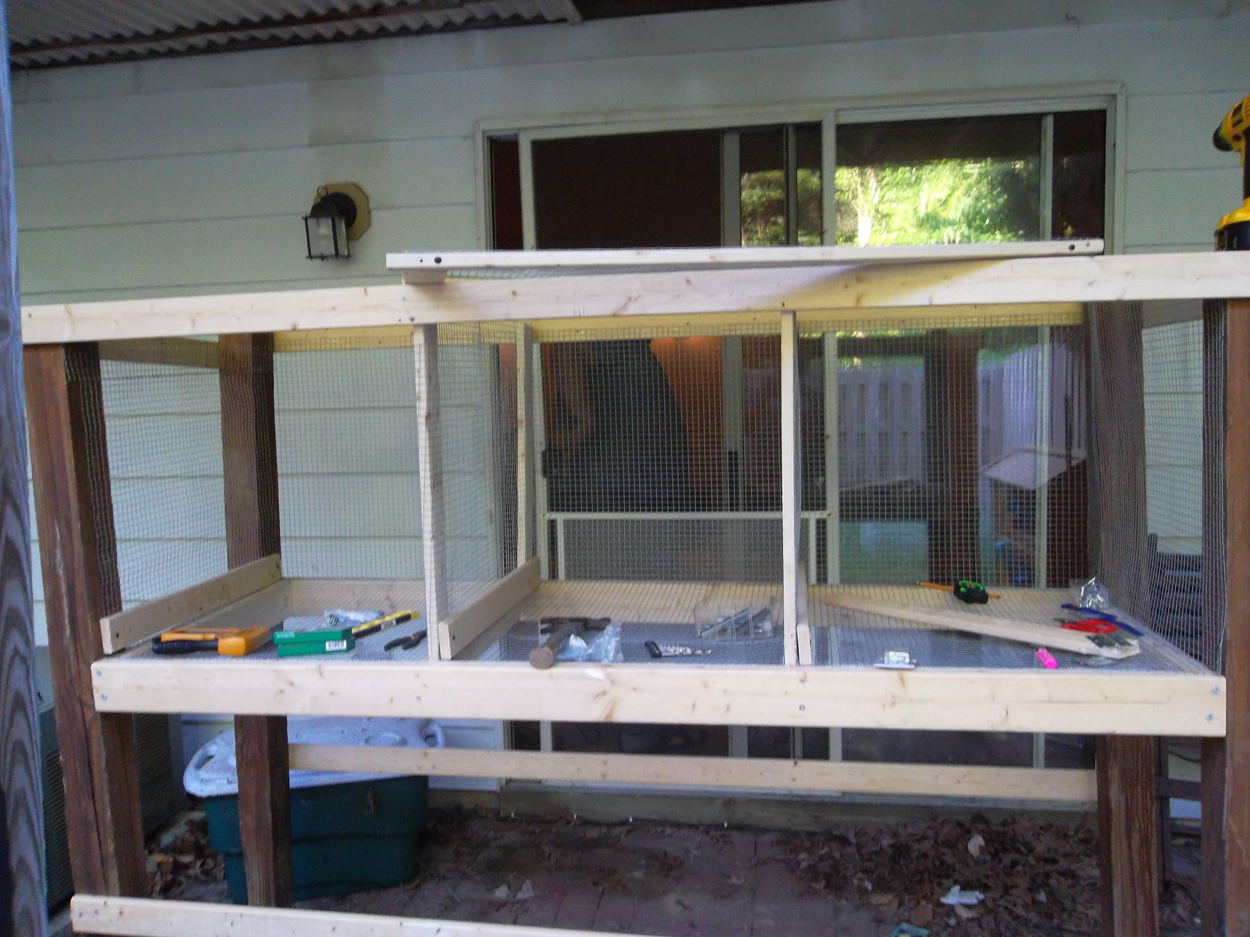 Picture of Building a Hutch.