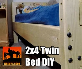 Twin Bed With Optional CNC Engraving