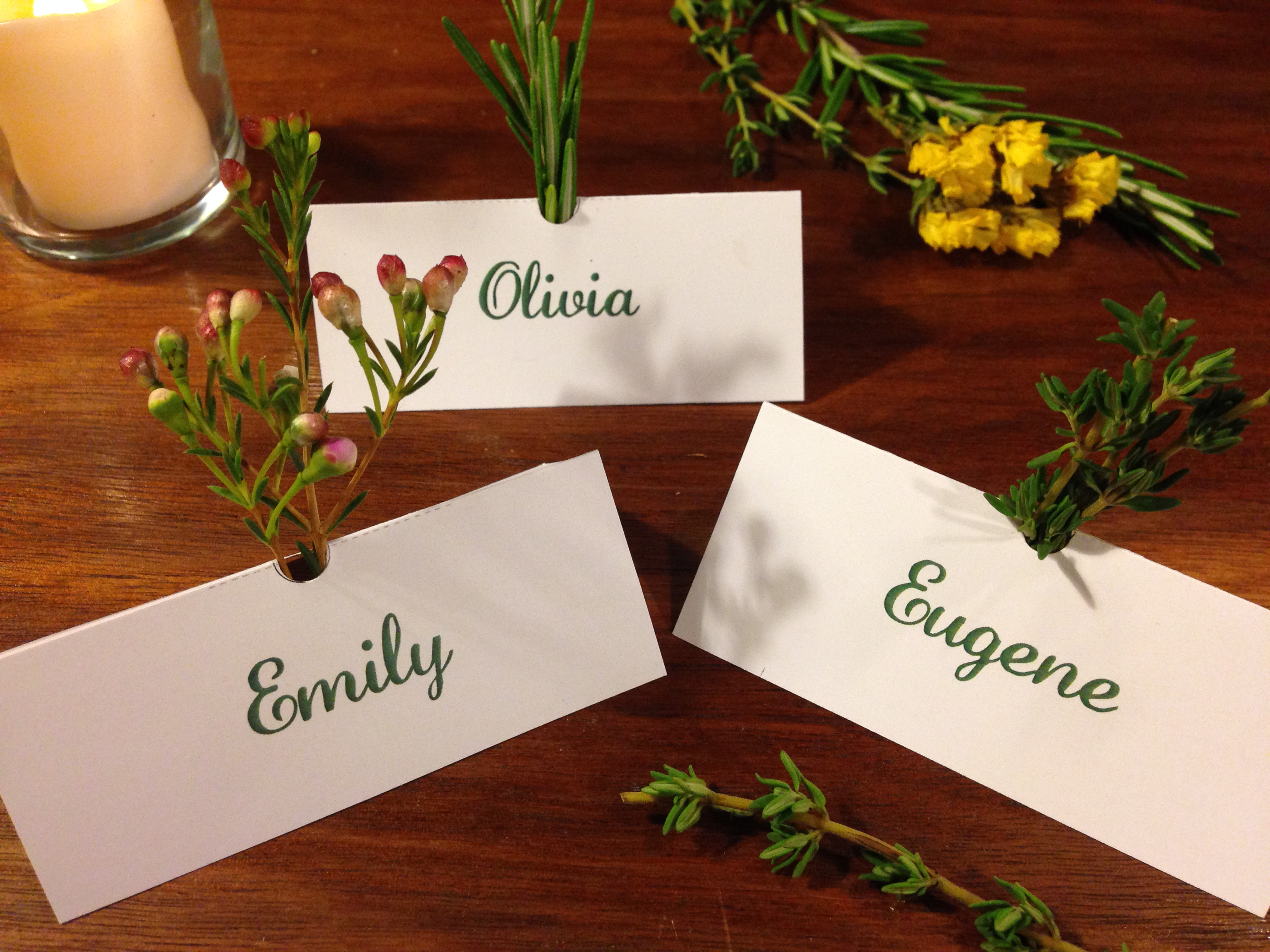 Picture of Herb Scented Placecards