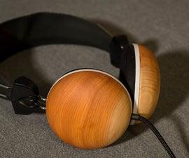 Homemade Wooden Headphones