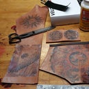 Torins Tutorials: Steampunk leather ink transfer