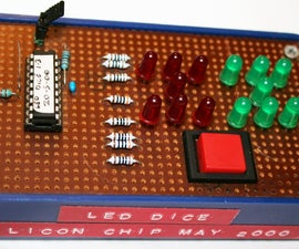 An LED Dice using a PIC 16F84 (or 16F88)