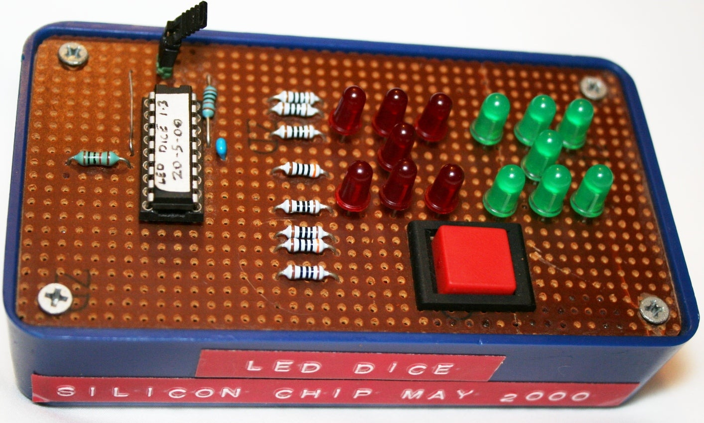 An Led Dice Using A Pic 16f84 Or 16f88 12 Steps With Pictures Introduction To 16f877
