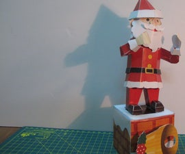 paper santa clause can dance - christmas crafts