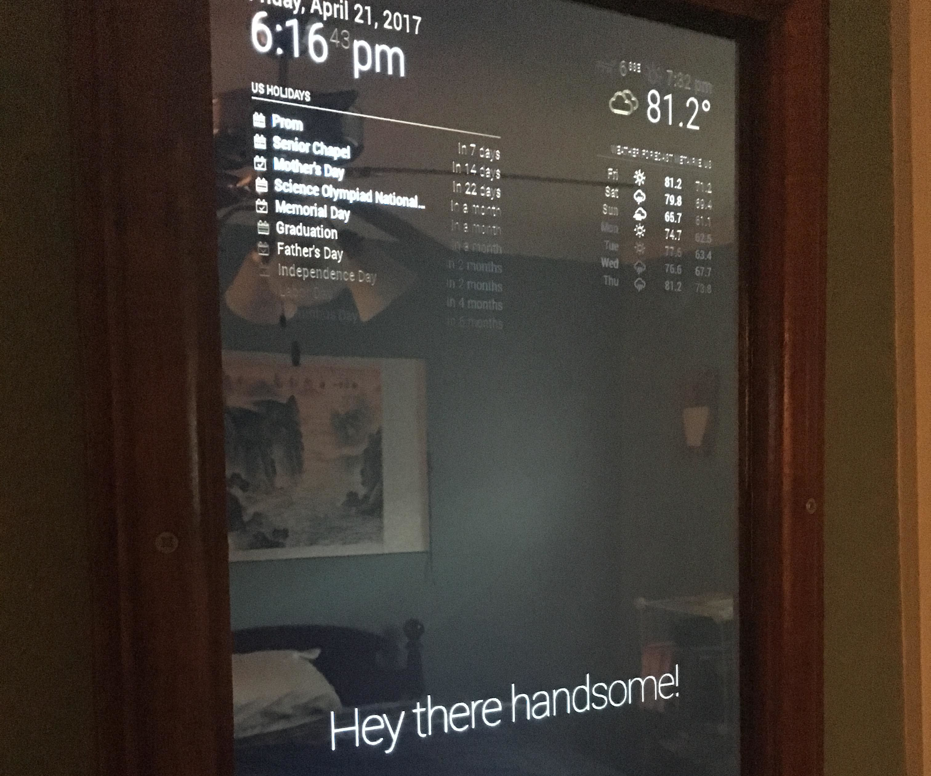 Smart Mirror -Raspberry Pi 3 : 5 Steps (with Pictures) - Instructables