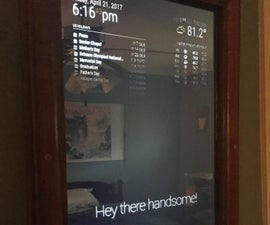 Smart Mirror -Raspberry Pi 3