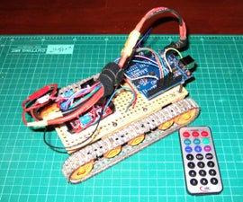 Tracked Robot IR Remote control by Arduino