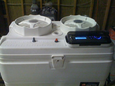 Cooler Stereo W/ Wakeboard Tower Speakers (Small Package.. Big Punch)