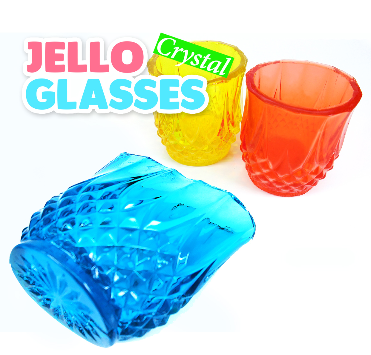 Picture of DIY How to Make Crystal Jello Glasses! Jewelry Gummy Cups Recipe
