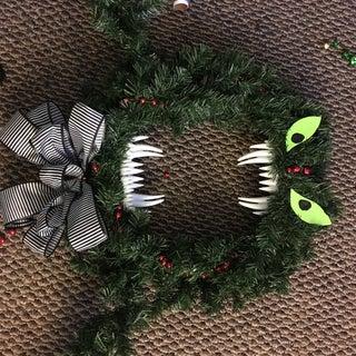 Christmas or Halloween? the Man Eating Wreath.