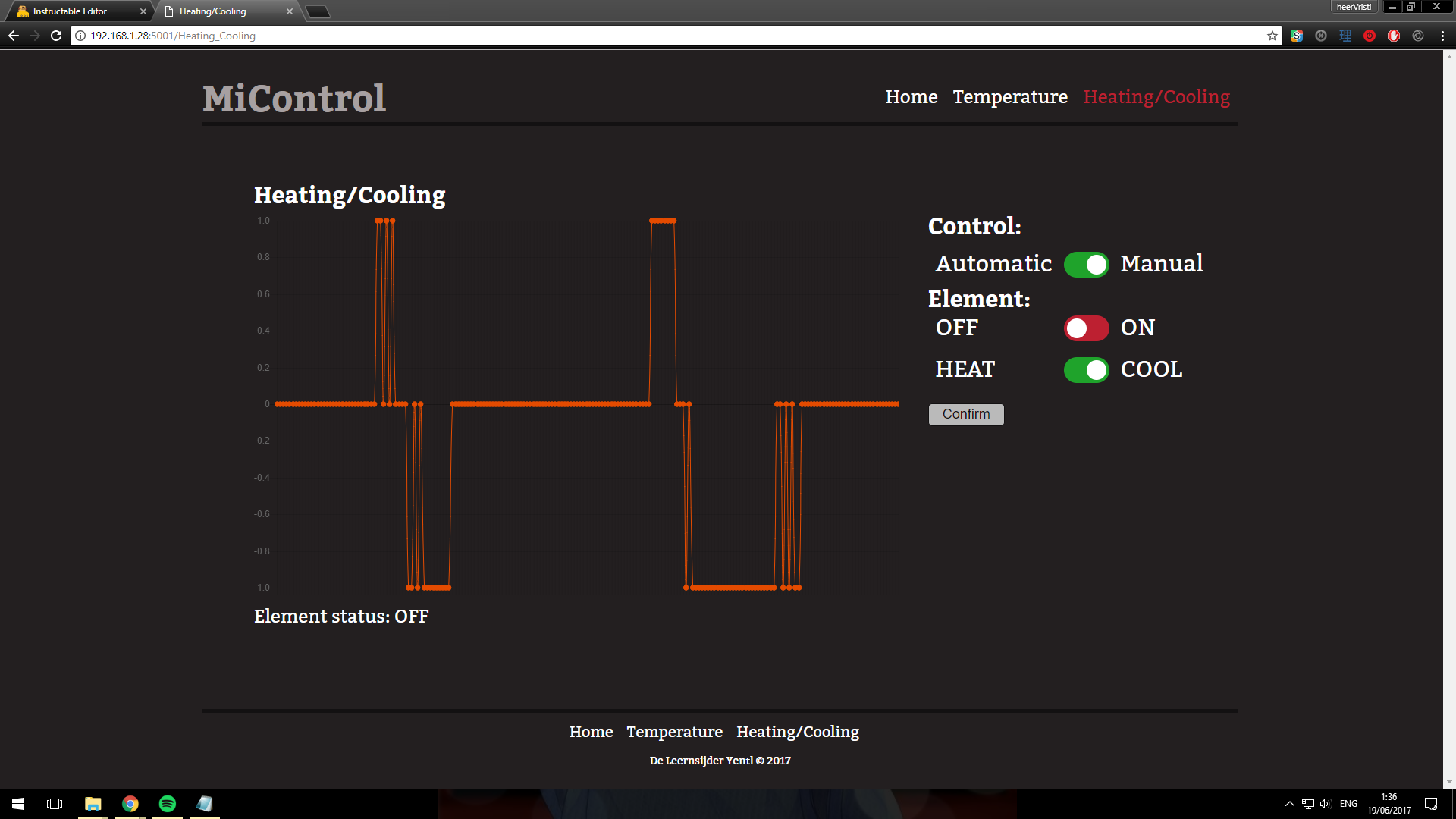 Picture of The Web Interface