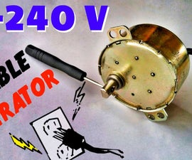 DIY 240v AC Power Generator for Emergency - Portable AC Hand Crank