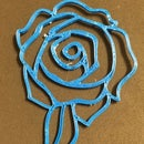 3D Printed Rose Necklace