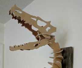 Velociraptor skull trophy wall mount