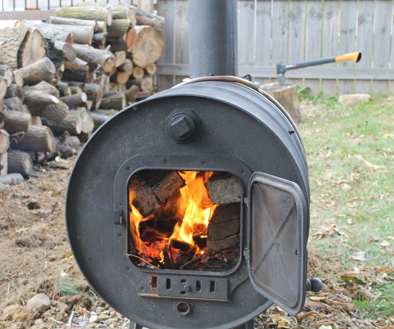 Building A Simple Barrel Stove 7 Steps With Pictures