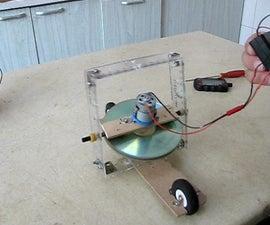 Self Balancing Gyroscope on Two Inline Wheels