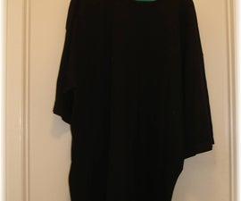 Transforming a boring old black t-shirt using bleach!