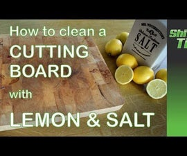 Eco friendly cutting board cleaning