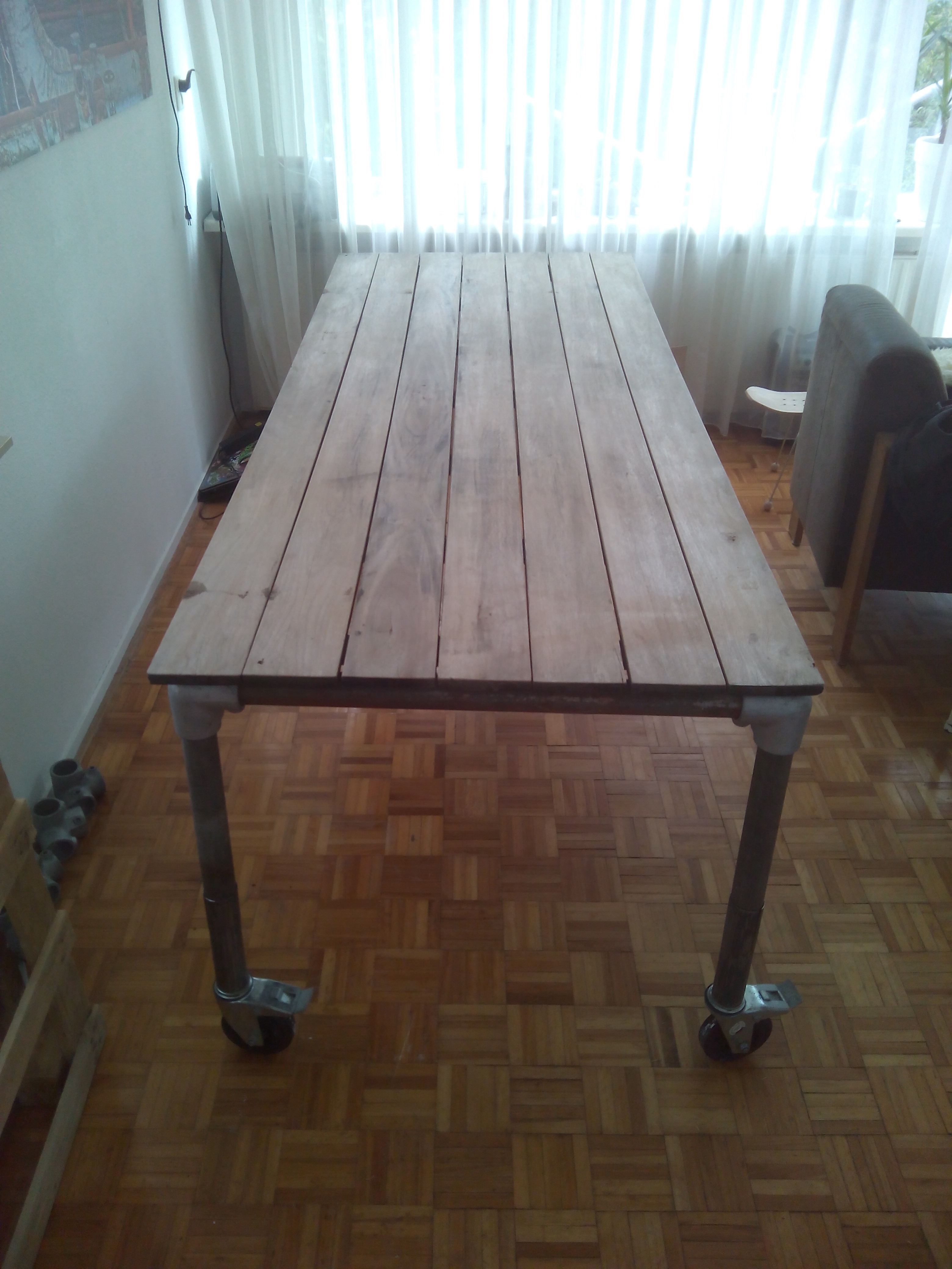 Picture of Garden Tabletop to Big Diner Table With Scaffolding Frame.