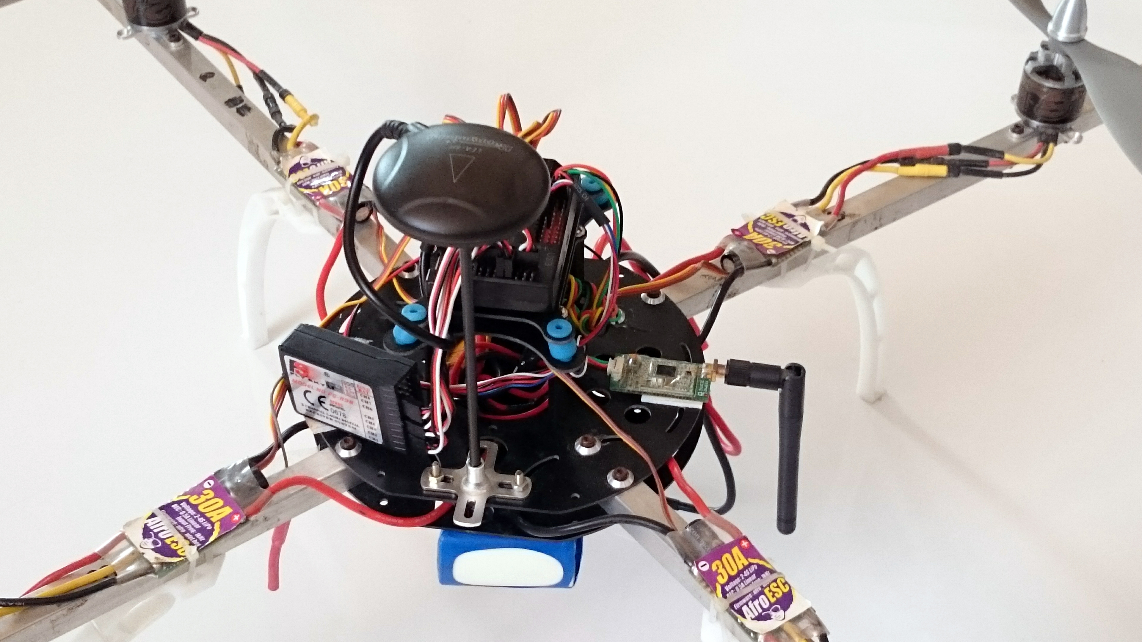 Picture of How to Build a Quadcoptor. (NTM 28-30S 800kV 300W and Arducopter APM 2.6 & 6H GPS 3DR Radio and FlySky TH9X)