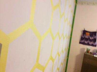 Tape All of the Other Hexagons and Trim