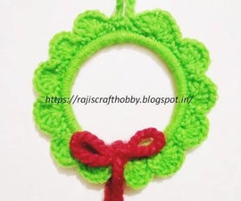 Easy DIY Crochet Wreath Ornament