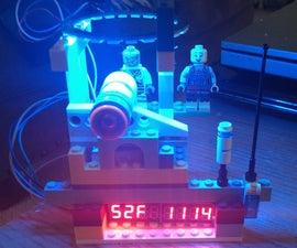 ESP8266 ESP-12E Arduino Clock W/ Outside Temp & LEGOS & NeoPixel Ring
