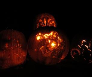 Avengers Assemble!  My 2012 Pumpkin Carving.