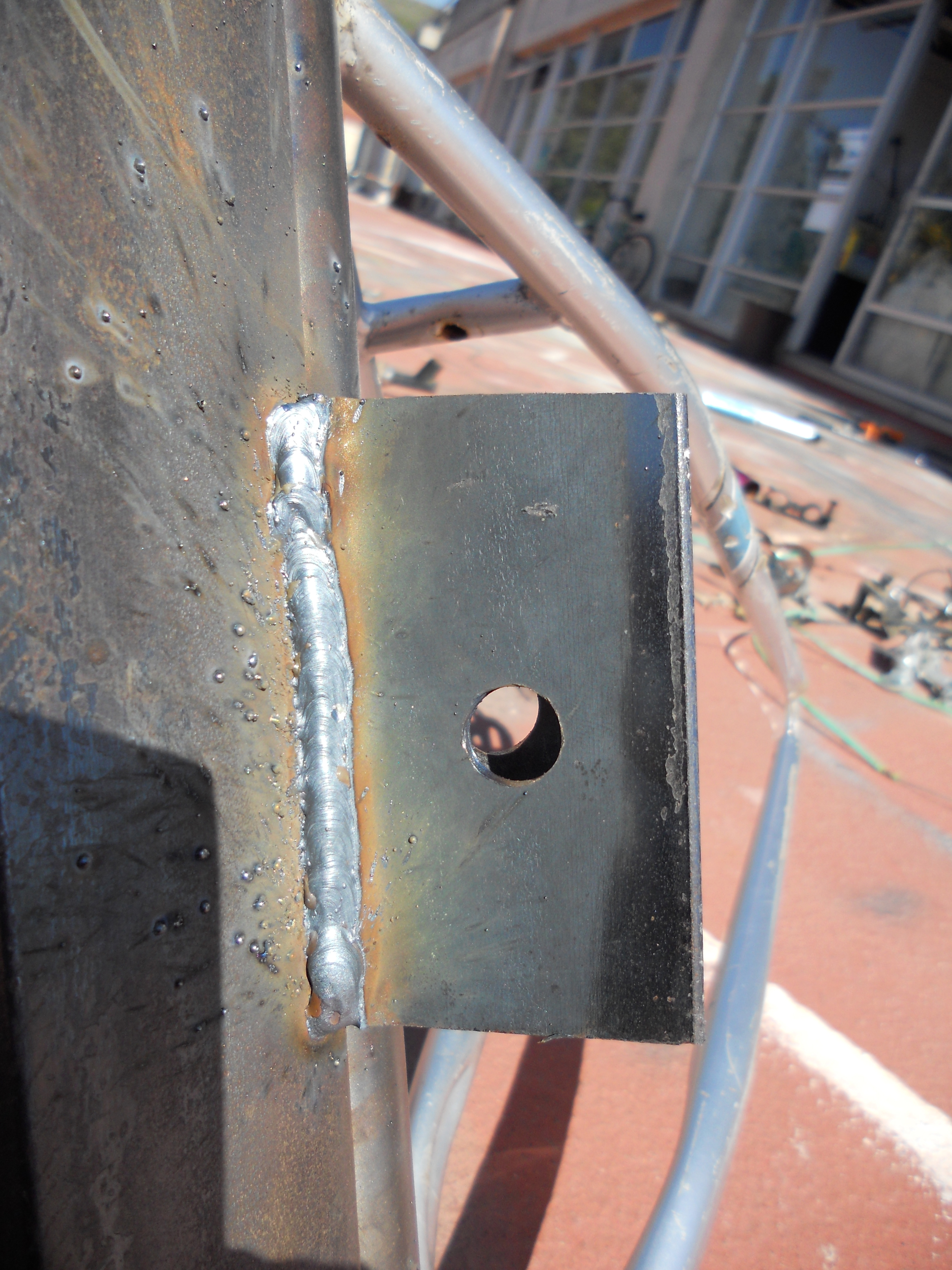 Picture of Weld on Flanges for Ultimate Lockage