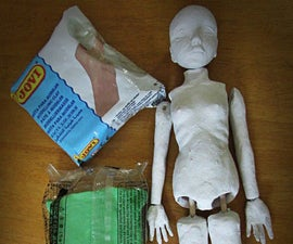 Failed Attempt to Make a Ball Jointed Doll from Air Dry Clay