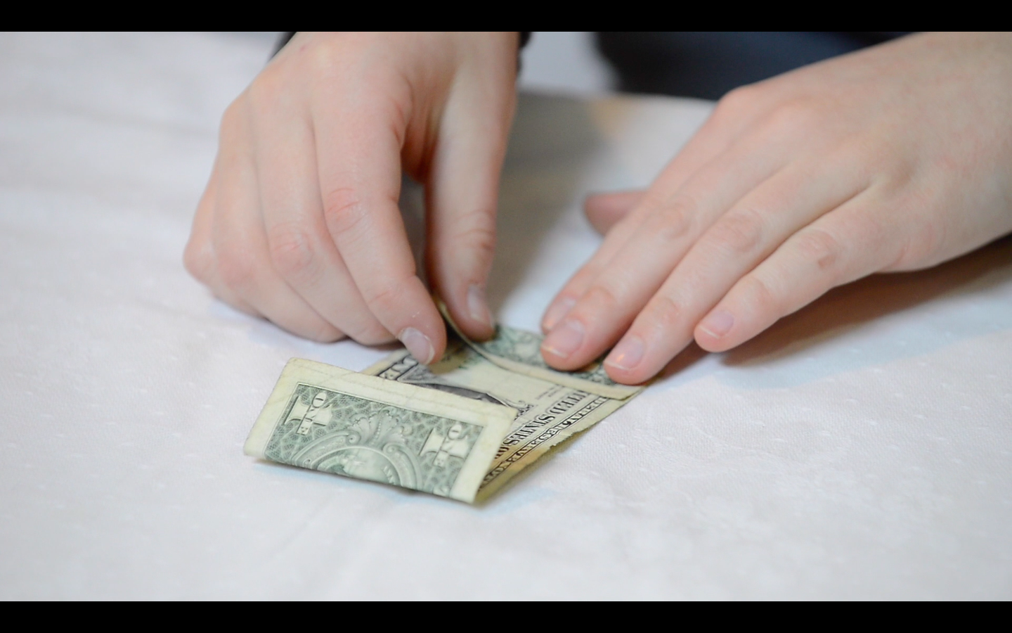 Picture of Origami Flower: How to Fold the Dollar Bills - Fold 2