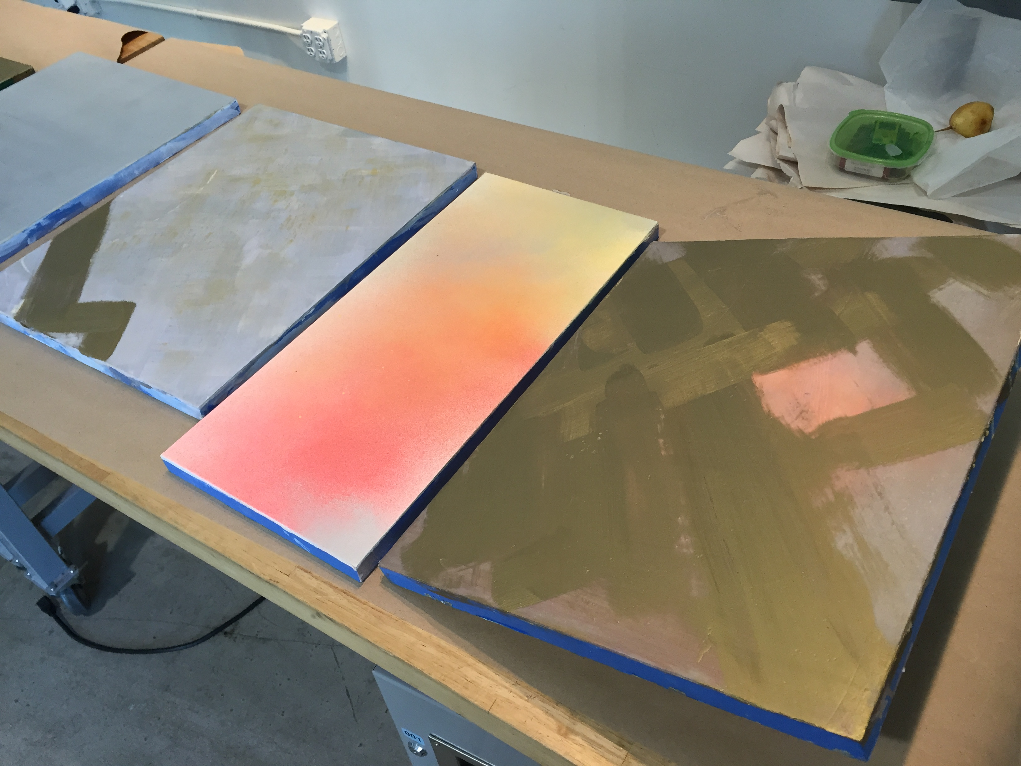 Picture of Acrylic Ground and Charcoal Top Layer