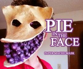 Pie in the Face Paper Mache Mask