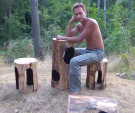 Burned Holes Furniture for your Garden