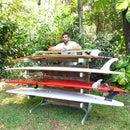 Malibu Board Rack, Up-Cycled