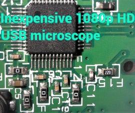 Inexpensive Microsoft Lifecam Studio Electronics Microscope