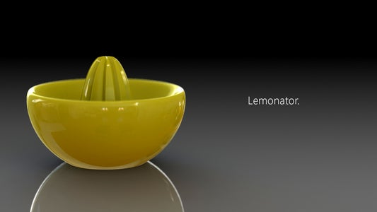 Lemonator!  3D Printed Juice Squeezer of Awesomeness *updated*