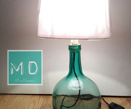 Lamp With Bottle
