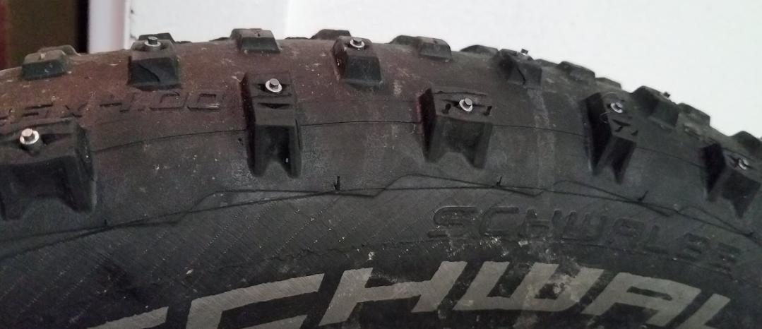 Picture of Repeat Steps 1-3 Until Tire Is Studded As Desired.