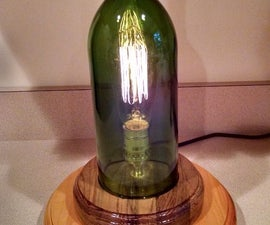 Wine Bottle Edison Bulb Lamp